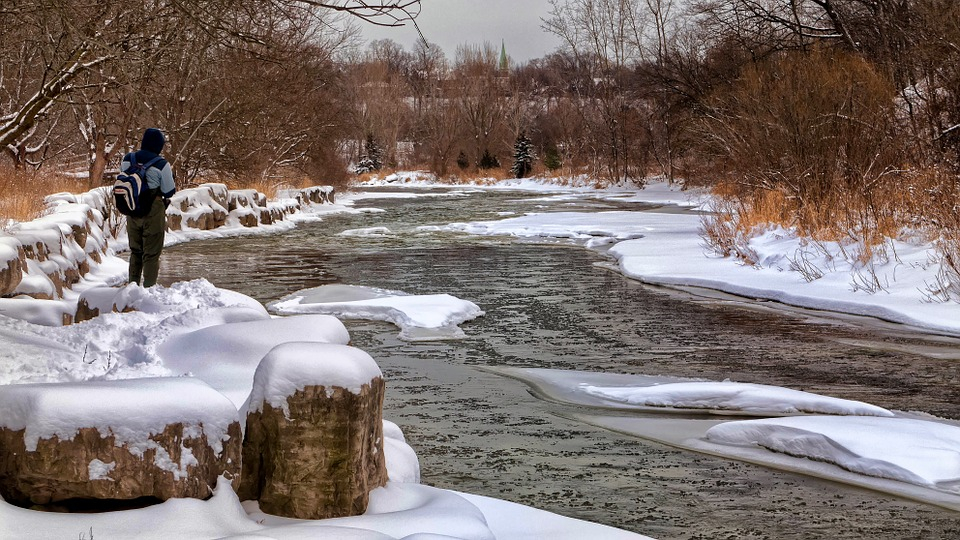 rybolov v zimě
