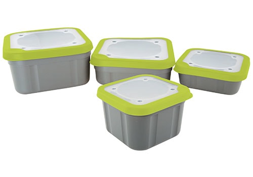 Fotografie Matrix Box Bait Boxes Solid Top Grey/Lime - malá 1,1pt