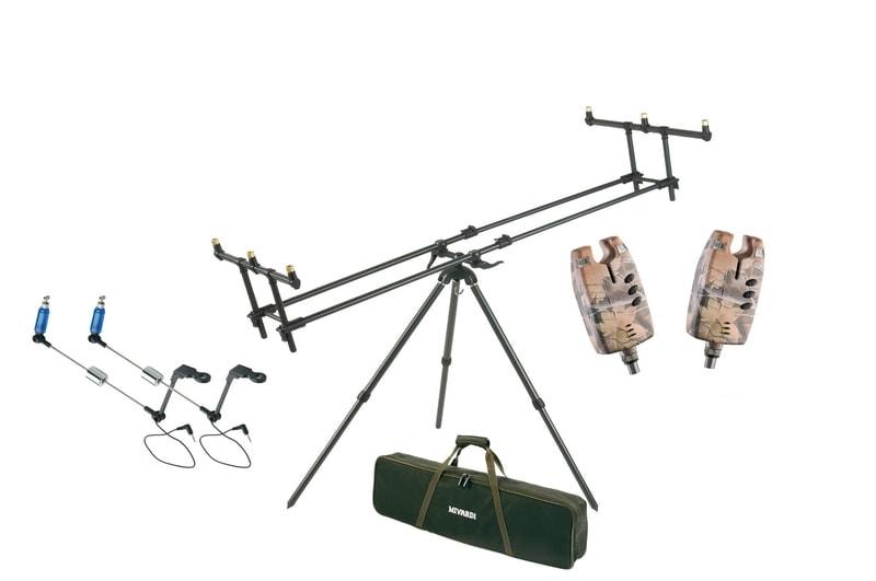 Mivardi Stojan Tripod Premium + ZDARMA 2x Sounder EASY CAMO a 2x Swingarm EASY