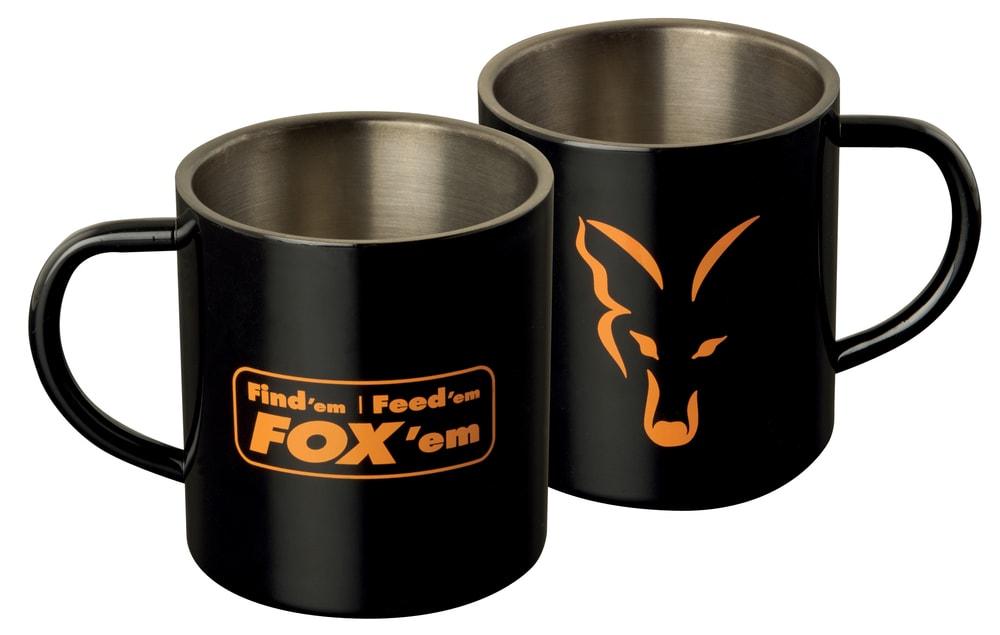 Fox Nerezový hrnek Stainless Black XL Mug 400ml