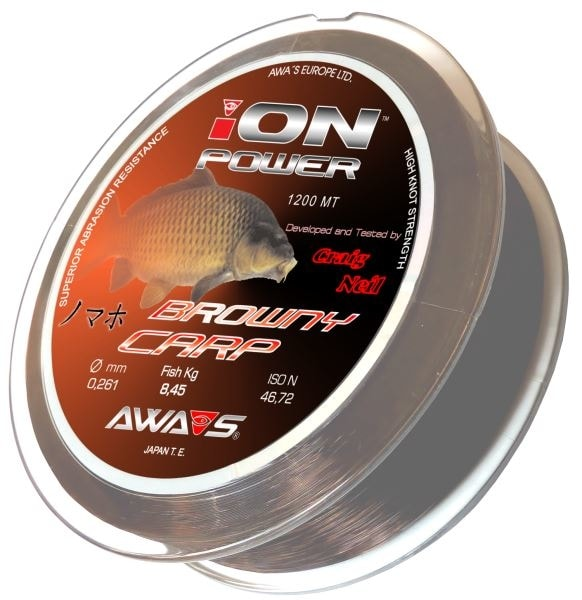 Awa-S Vlasec Ion Power Browny Carp 1200m - 0,28mm
