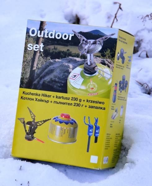 Sports Outdoor Set vařič Spider, křesadlo, kartuš