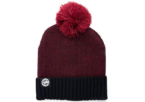 Fox Zimní čepice CHUNK Burgundy/Black Bobble Hat