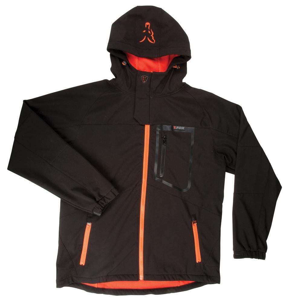 Fox Softshellová Bunda Softshell Jacket Black/Orange - vel. L