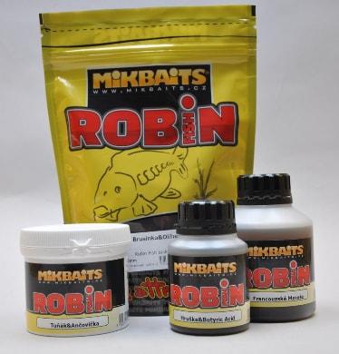 Mikbaits Trvanlivé boilie Robin Fish 400g - Brusinka & Oliheň 16mm