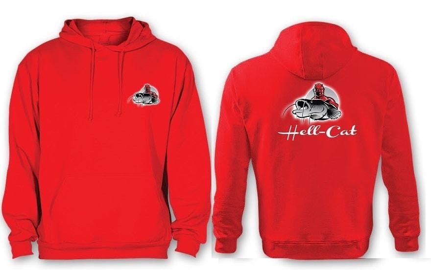 Hell-Cat Mikina klokánek s kapucí červená