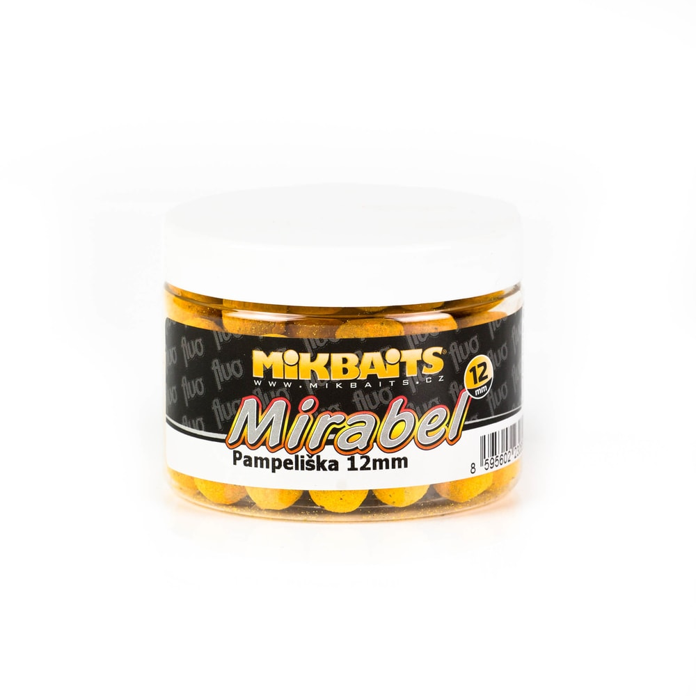 Mikbaits Boilie Mirabel Fluo 12mm 150ml - Ananas N-BA