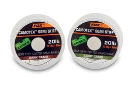 Fox Ztužená šňůrka Edges Camotex Semi Stiff 20m
