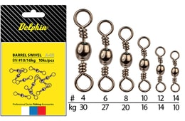 Delphin Obratlík Barrel Swivel A-02 10ks