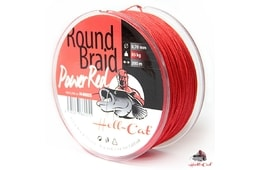 Hell-Cat Splétaná šňůra Round Braid Power Red 200m