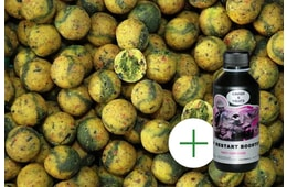 LK Baits Boilie Top ReStart Green Banana 18mm 5kg + Booster ZDARMA!