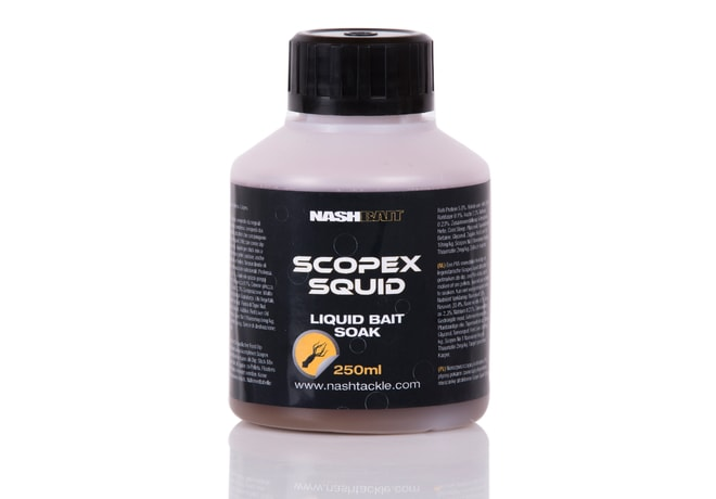 Nash Scopex Squid Liquid Bait Soak 250ml