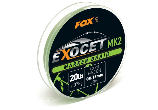 Fox Šňůra Exocet MK2 Marker Braid Green 0,18mm 20lb 300m
