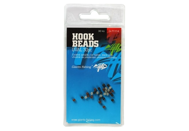 Giants Fishing Zarážka na háček Hook Beads Oval 30ks