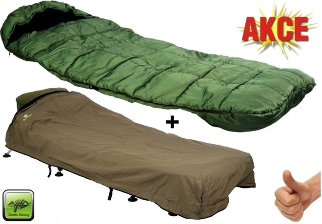 Giants Fishing Spací pytel Sleeping Bag 4 Season Comfort + přehoz Exclusive zdarma