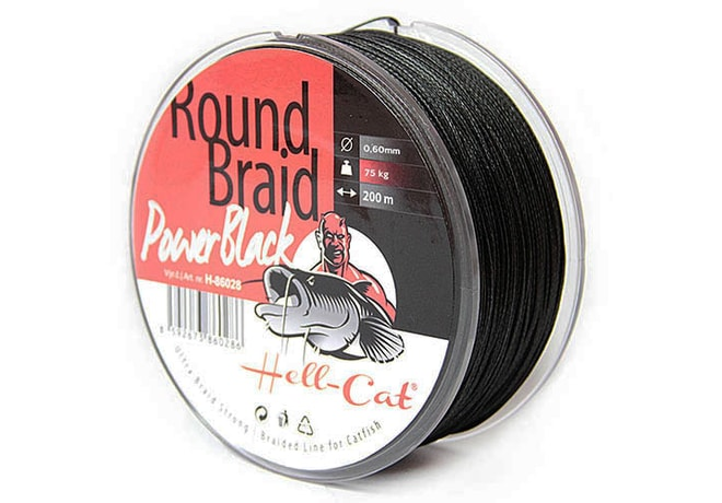 Hell-Cat Splétaná šňůra Round Braid Power Black 200m