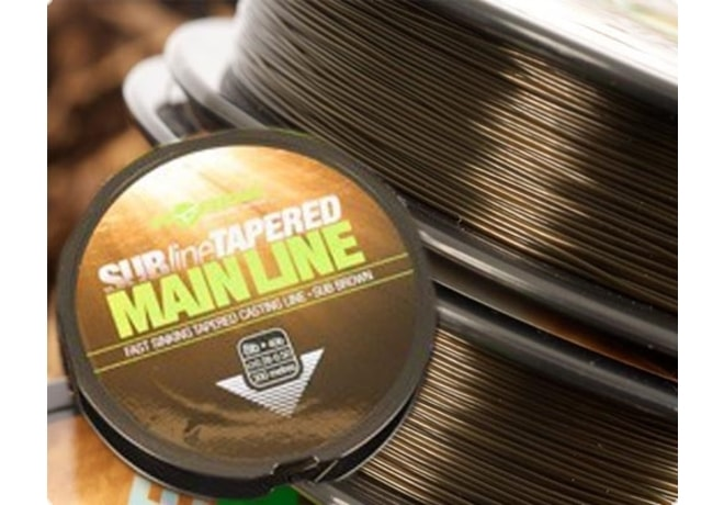 Korda Ujímaný vlasec Subline Tapered Mainline 0,30-0,50mm brown 300m