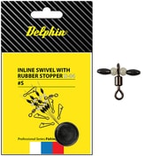 Delphin Obratlík Inline Swivel with Rubber Stopper
