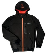 Fox Softshellová Bunda Softshell Hoody Black/Orange - vel. M