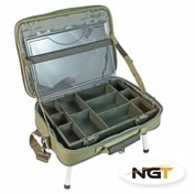 NGT Stolek v Kufříku Box Case Tackle Bag with Bivvy Table