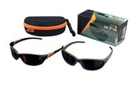 Fox Polarizační brýle XT4 Sunglasses - černo/oranžový rám s šedými skly