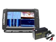 Lowrance Echolot Elite-9 Ti + TotalScan™ sonda + baterie + nabíječka ZDARMA