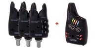 Flajzar Sada signalizátorů Fishtron Q9-RGB-TX 3+1 + kufr