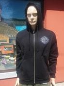 Mikbaits Mikina Fans Team černá s kapucí