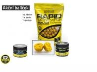 Mivardi Akční balíček boilie a doplňků Rapid - Ananas+N.BA.