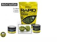 Mivardi Akční balíček boilie a doplňků Rapid - Česnek+Chilli