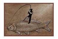 Delphin Rohož Retro Rybář