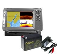 Lowrance Echolot HOOK² 7 se Sondou Splitshot + baterie + nabíječka ZDARMA