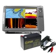 Lowrance Echolot HOOK² 12 se Sondou Tripleshot + baterie + nabíječka ZDARMA