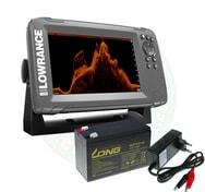Lowrance Echolot HOOK² 7X se Sondou Splitshot + baterie + nabíječka ZDARMA