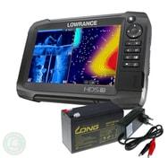 Lowrance Echolot HDS-7 Carbon + sonda TotalScan + baterie + nabíječka ZDARMA