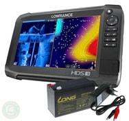 Lowrance Echolot HDS-9 Carbon bez sondy + baterie + nabíječka ZDARMA