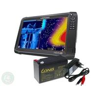 Lowrance Echolot HDS-16 Carbon + sonda TotalScan + baterie + nabíječka ZDARMA