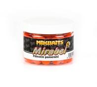 Mikbaits Boilie Mirabel Fluo 12mm 150ml - Půlnoční pomeranč