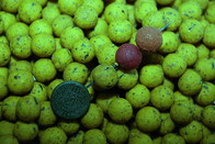 LK Baits Mini boilie Green Banana 12mm, 500 g