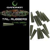 Gardner Převleky COVERT TAIL RUBBERS C-THRU, trans. zelená 12ks