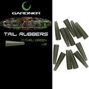 Gardner Převleky COVERT TAIL RUBBERS C-THRU, zelená 12ks