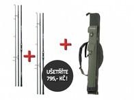 Mivardi 2 kaprové pruty Vector Carp 360SH (3) + luxusní obal na pruty Premium 145 ZDARMA!