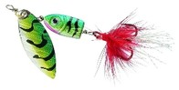 Balzer Rotační třpytka Colonel 3D LEAD HEAD SPINNER Ohnivá ryba - 4g