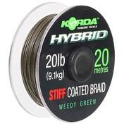 Korda Ztužená šňůrka Hybrid Stiff weed green 20lb 20m