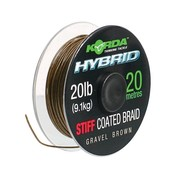 Korda Ztužená šňůrka Hybrid Stiff Gravel Brown 20lb 20m