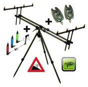 Giants Fishing Stojan Tripod Army 4 Rods + 2x hlásič, 2x indikátor záběru zdarma