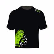 R-Spekt Tričko Double Carp černé, zelený kapr
