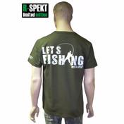 R-Spekt Tričko Let´s Fishing with R-Spekt khaki -   vel. M
