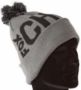 Fox Zimní čepice s bambulí Chunk Black/Grey Bobble Hat