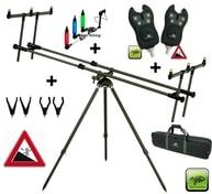 Giants Fishing Stojan Tri Pod Specialist 3 Rods + 2x hlásič + 2x indikátor záběru